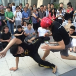 Street capoeira roda in Hangzhou