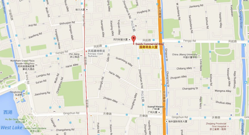 杭州巴西战舞地图 Capoeira hangzhou location & map
