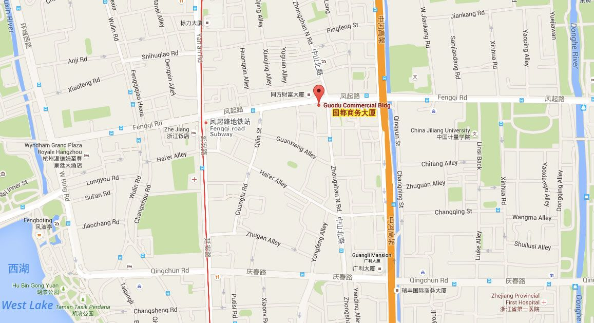 杭州巴西战舞地图 - Capoeira Hangzhou Map & Location
